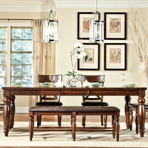 Dining Leg Table with Butterfly Leaf