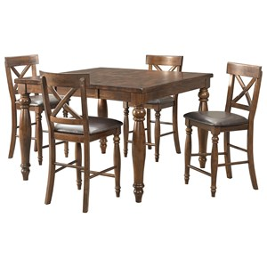 5 Piece Gathering Table and Stool Set