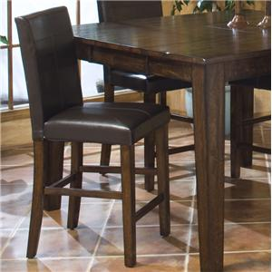 Parson's Barstool with Upholstered Chair Back and Seat