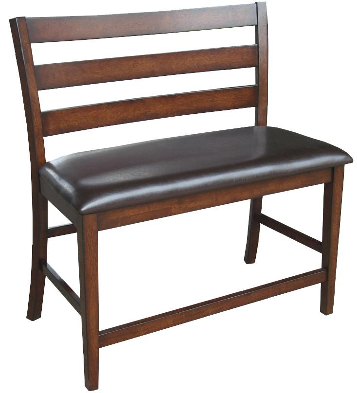 """Kona 24"""" Ladder Back Counter Height Bench by Intercon at Rife's Home Furniture"""