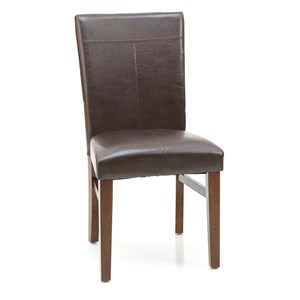 Parson's Side Chair with Upholsered Seat and Front-and-Back Seat Back