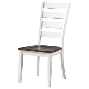 Transitional Ladder Back Dining Room Side Chair