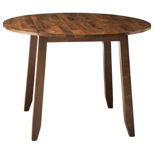 Wooden Round Top Drop Leaf Dining Table