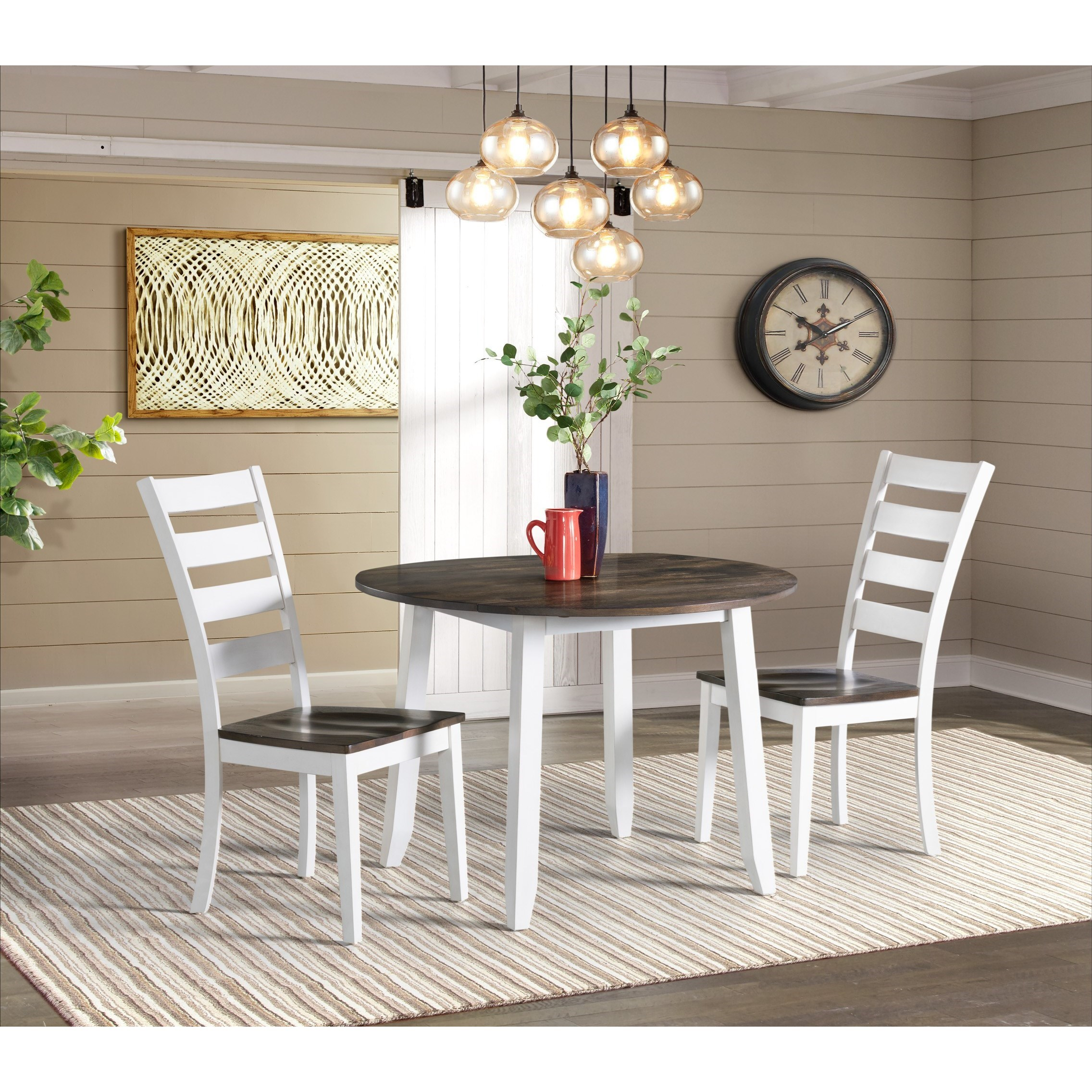 Kona Drop Leaf Dining Table and Chair Set by Intercon at Dinette Depot