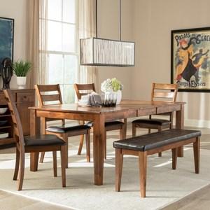 6 Piece Mango Wood Dining Room Set