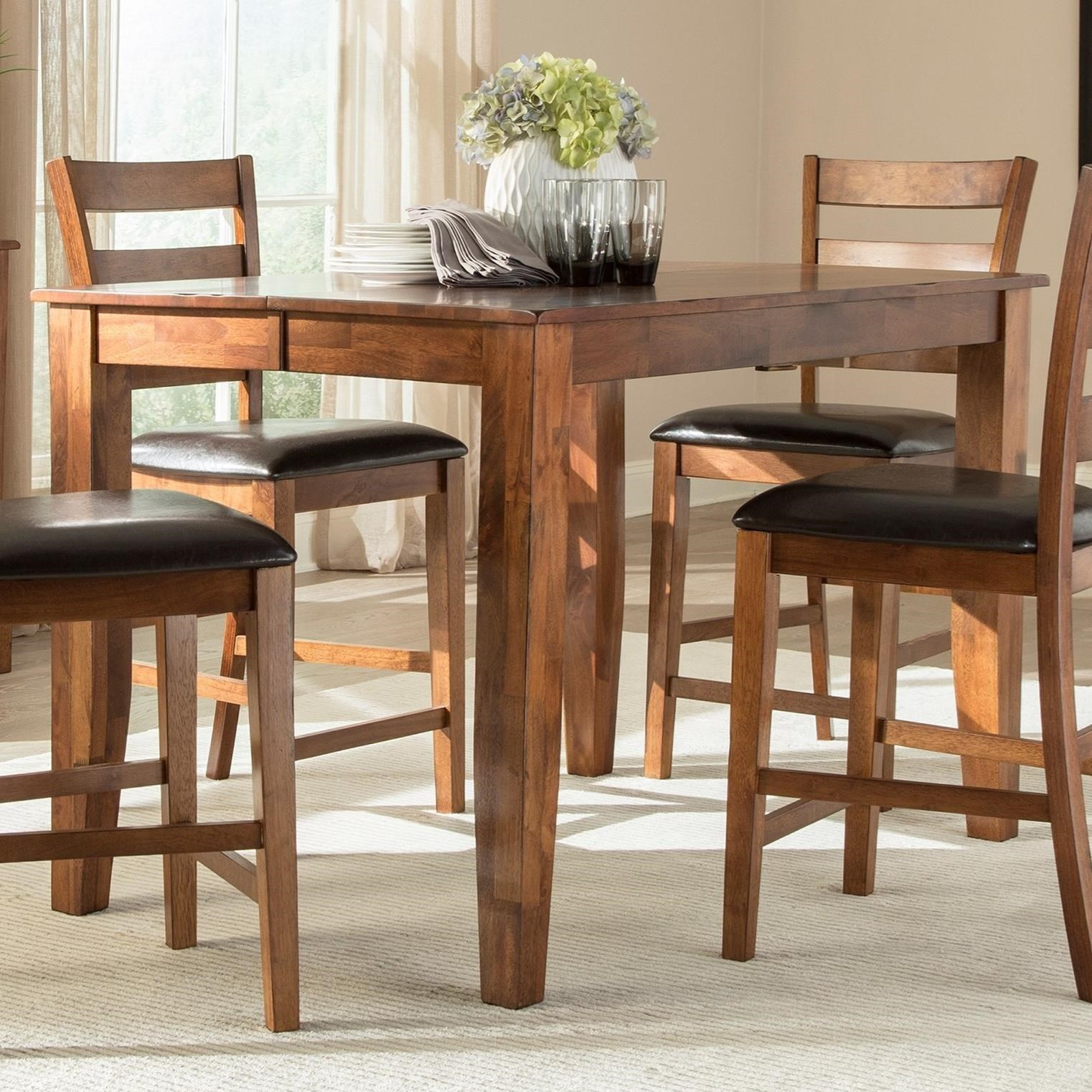Kona Gathering Table with Butterfly Leaf by VFM Signature at Virginia Furniture Market