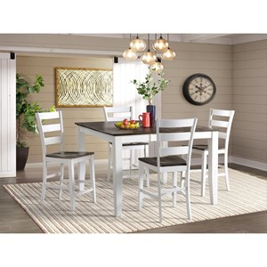 Transitional 5-Piece Pub Table and Chair Set