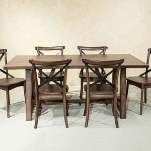 Rectangle Trestle Dining Table
