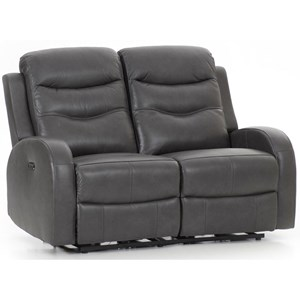 Contemporary Power Reclining Loveseat with USB Port