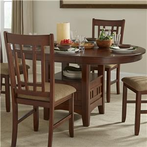 Oval Dining Table with Storage Pedestal