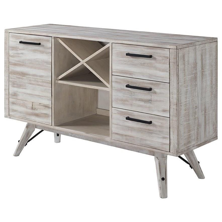 Modern Rustic  Server by VFM Signature at Virginia Furniture Market