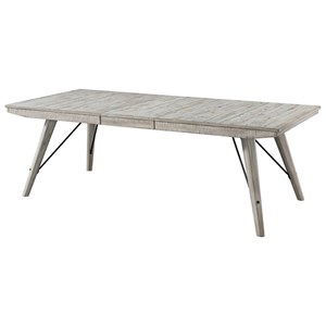 Contemporary Rectangular Dining Table with Leaf Extension