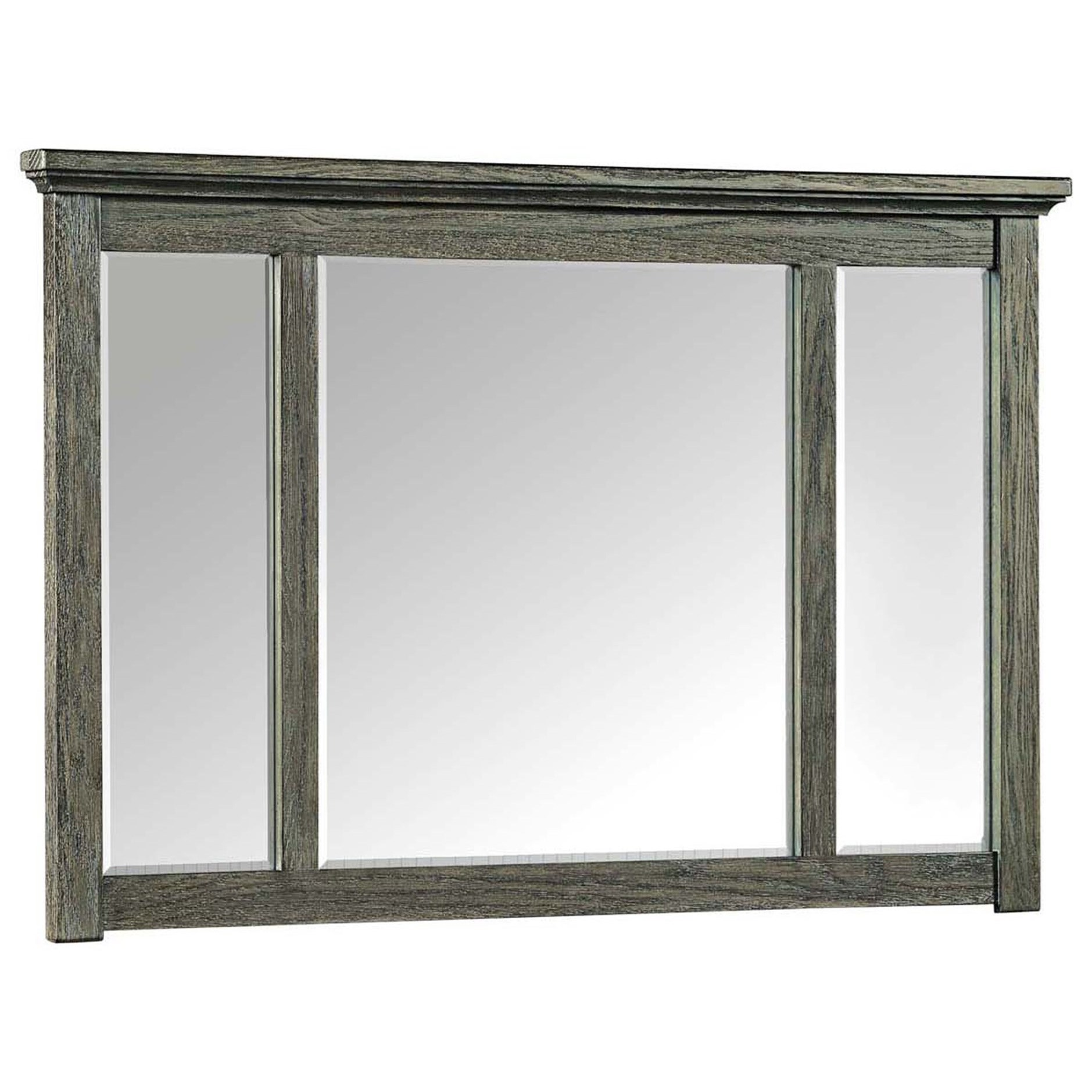 Oak Park Pewter Dresser Mirror by Intercon at Rife's Home Furniture