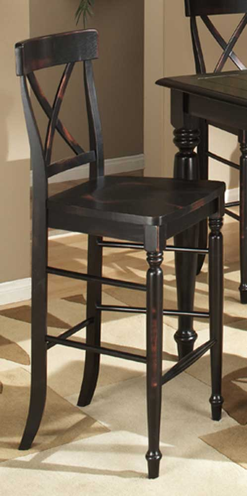 """Roanoke 24"""" X-Back Barstool by Intercon at Fisher Home Furnishings"""