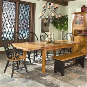 Dining Table with 4 Tapered Legs