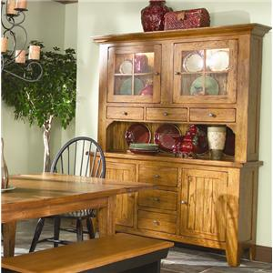 Dining China Cabinet with 62 Inch Hutch & 60 Inch Buffer
