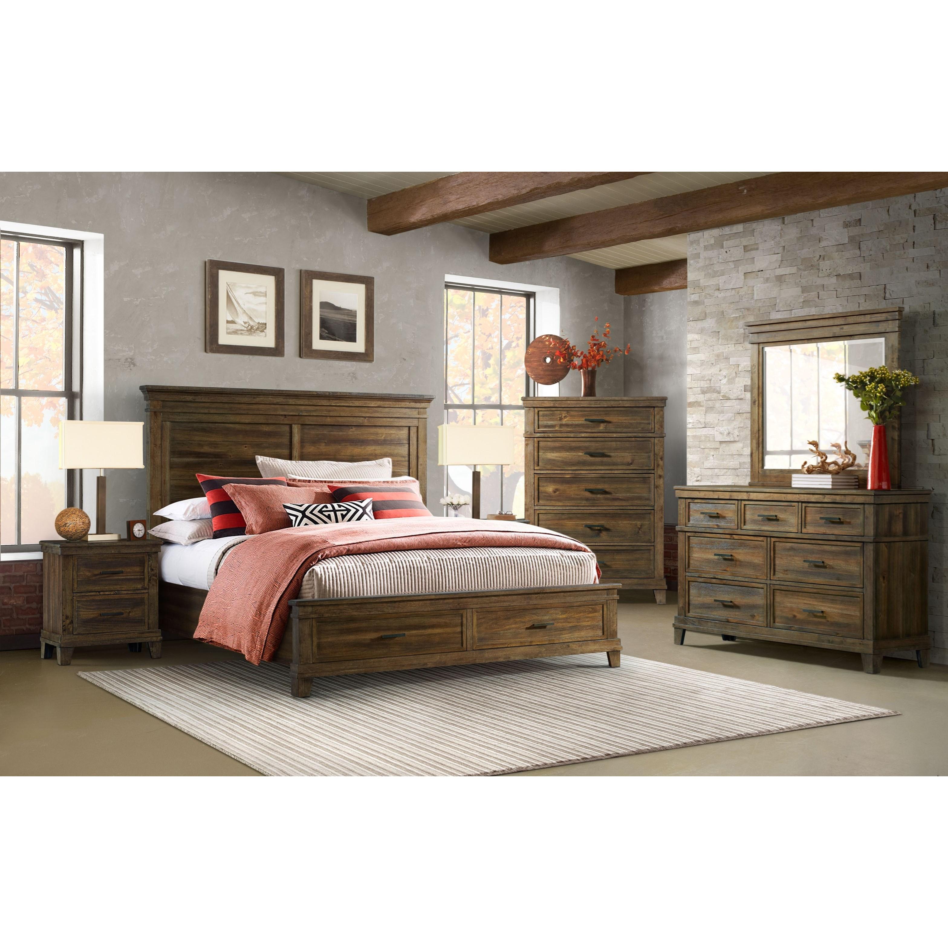 Salem King Bedroom Group at Sadler's Home Furnishings