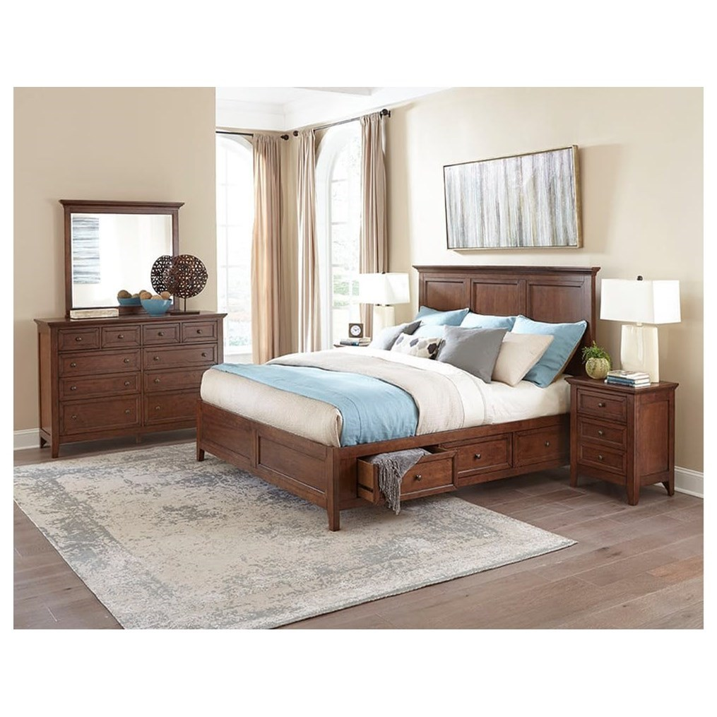 Amelia Queen Bedroom Group by VFM Signature at Virginia Furniture Market