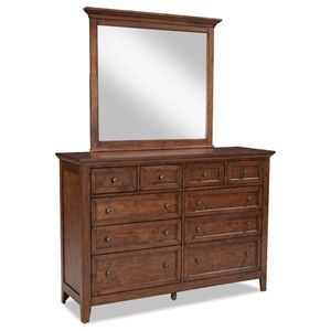 Transitional Dresser with Mirror