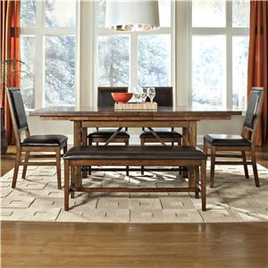 6-Piece Dining Table, Upholstered Chair, and Bench Set