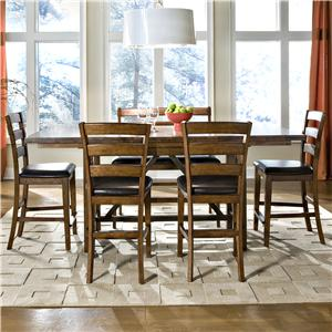 6-Piece Gathering Table, Ladder Back Stool, and Bench Set