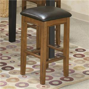 "24"" Backless Barstool w/ Upholstered Seat"