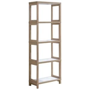 Contemporary 4 Shelf Bookcase with Laminate Shelves