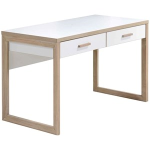 Contemporary 2 Drawer Writing Desk with Laminate Top
