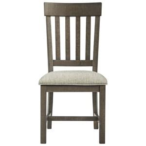 Farmhouse Side Chair with Slat Back