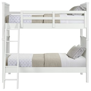 Casual Twin Over Twin Bunk Bed with Ladder