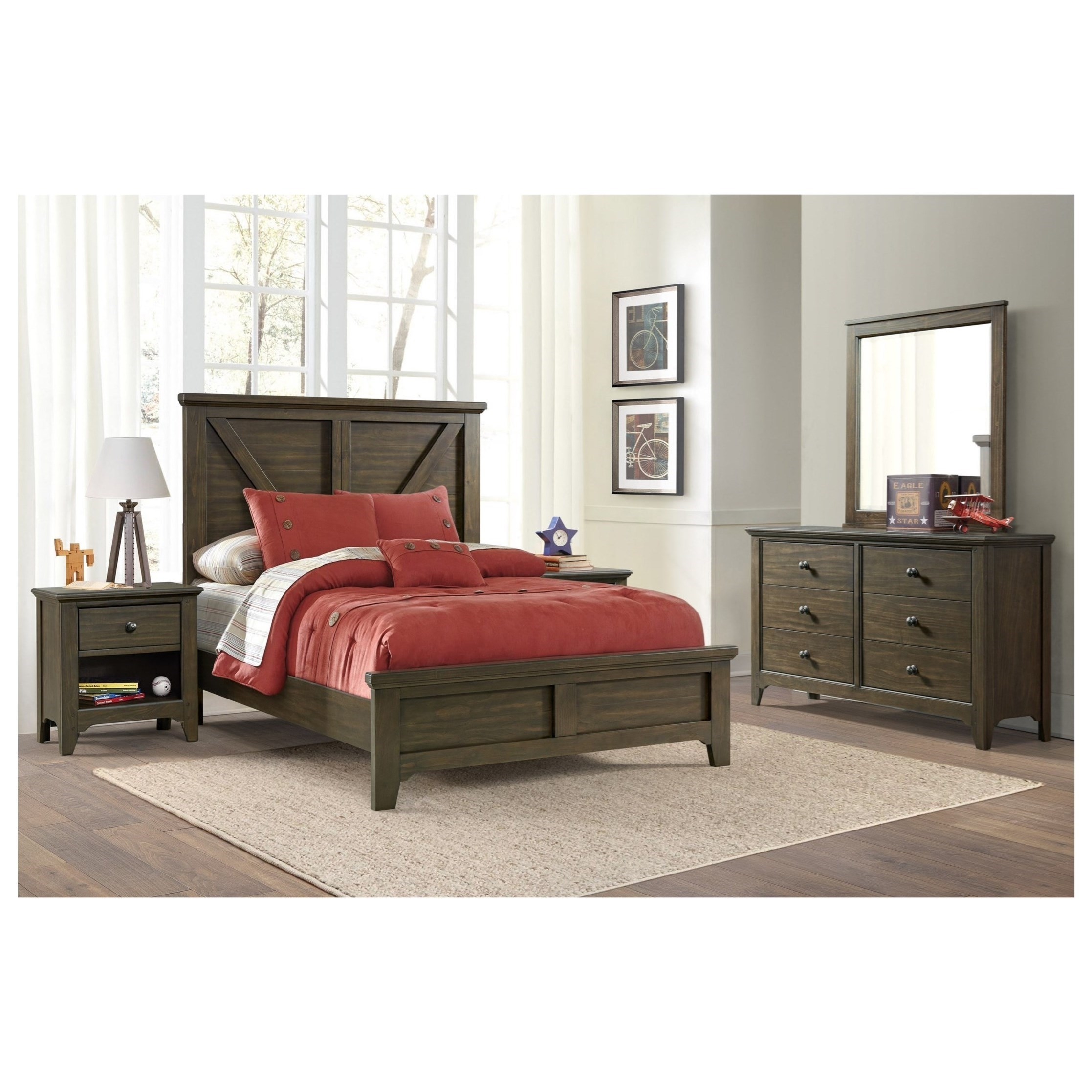 Tahoe Full Bedroom Group by Sussex Bay at Johnny Janosik