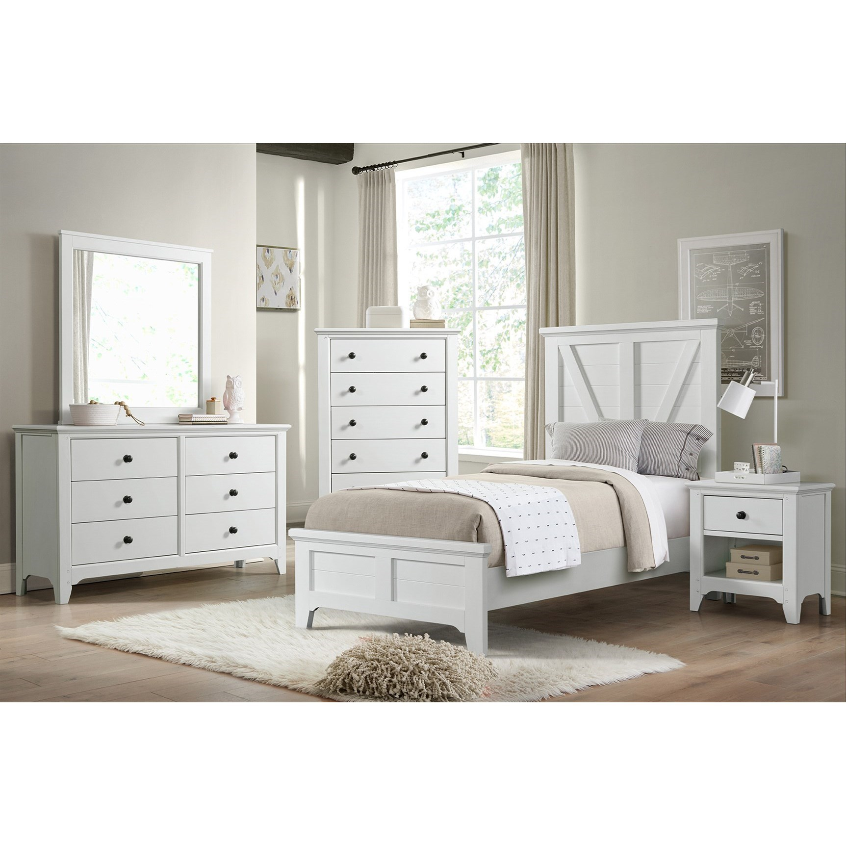 Tahoe Twin Bedroom Group by Sussex Bay at Johnny Janosik