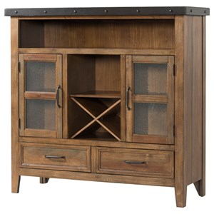 Rustic Buffet with Removable Bottle Storage