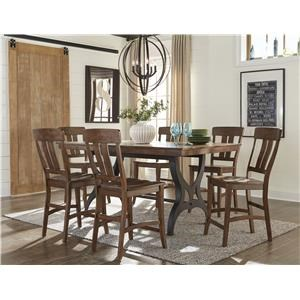 5 Piece Gathering Table & Bar Stool Set with Leaf