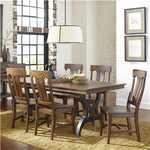 7 Piece Table & Chair Set with Leaf