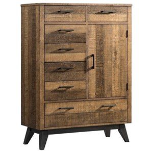 Rustic Gentleman's 8 Drawer Chest with 2 Shelves
