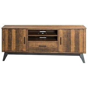 """Rustic 70"""" TV Console with Wire Management"""