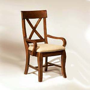 Intercon Verona X-Back Arm Chair