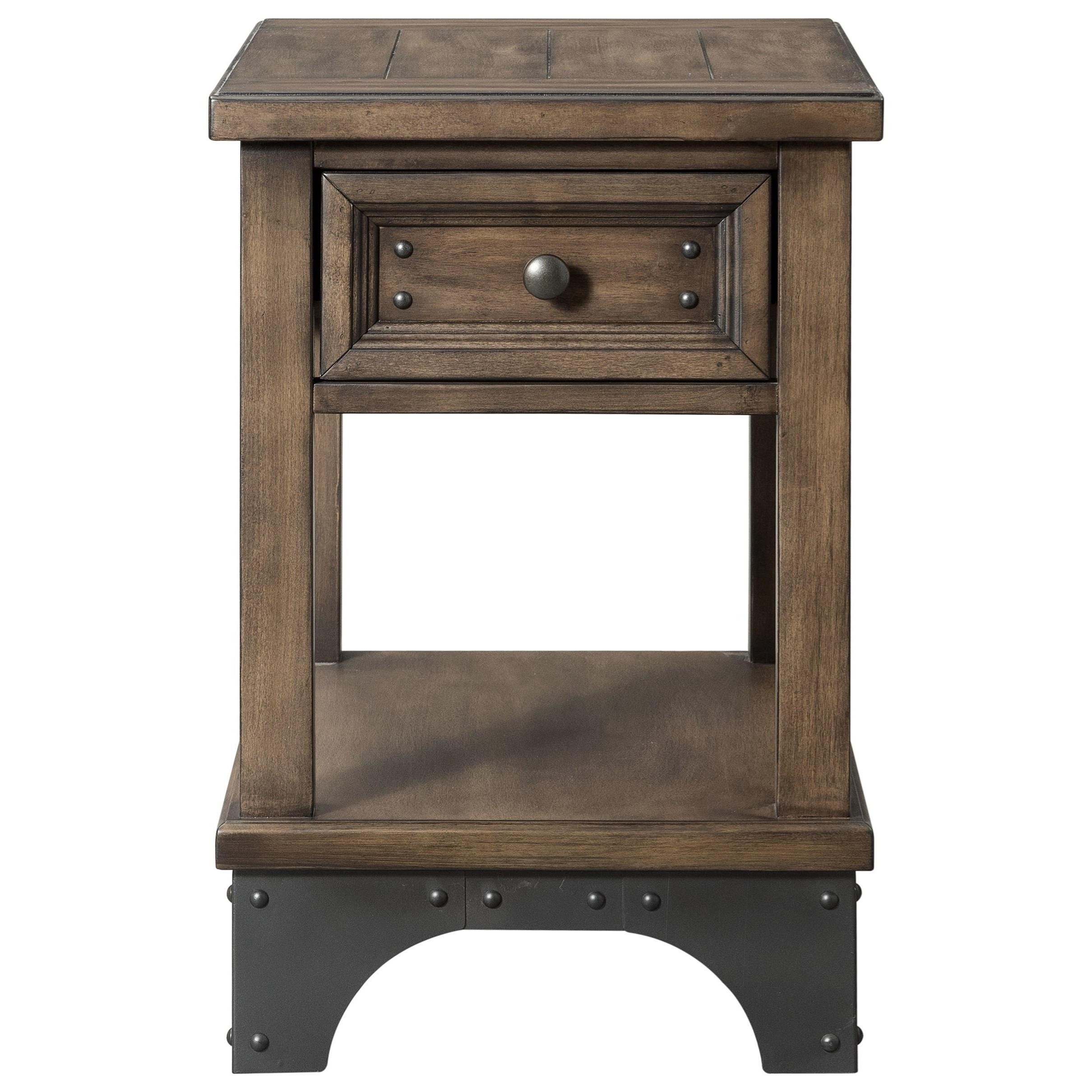 Whiskey River  Chairside Table by Intercon at Darvin Furniture