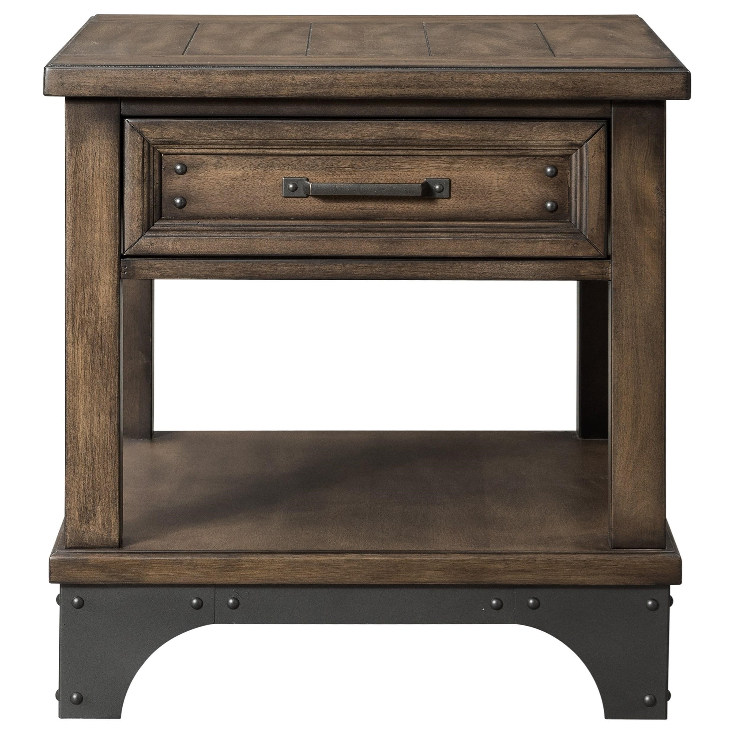 Whiskey River  End Table by Intercon at Darvin Furniture