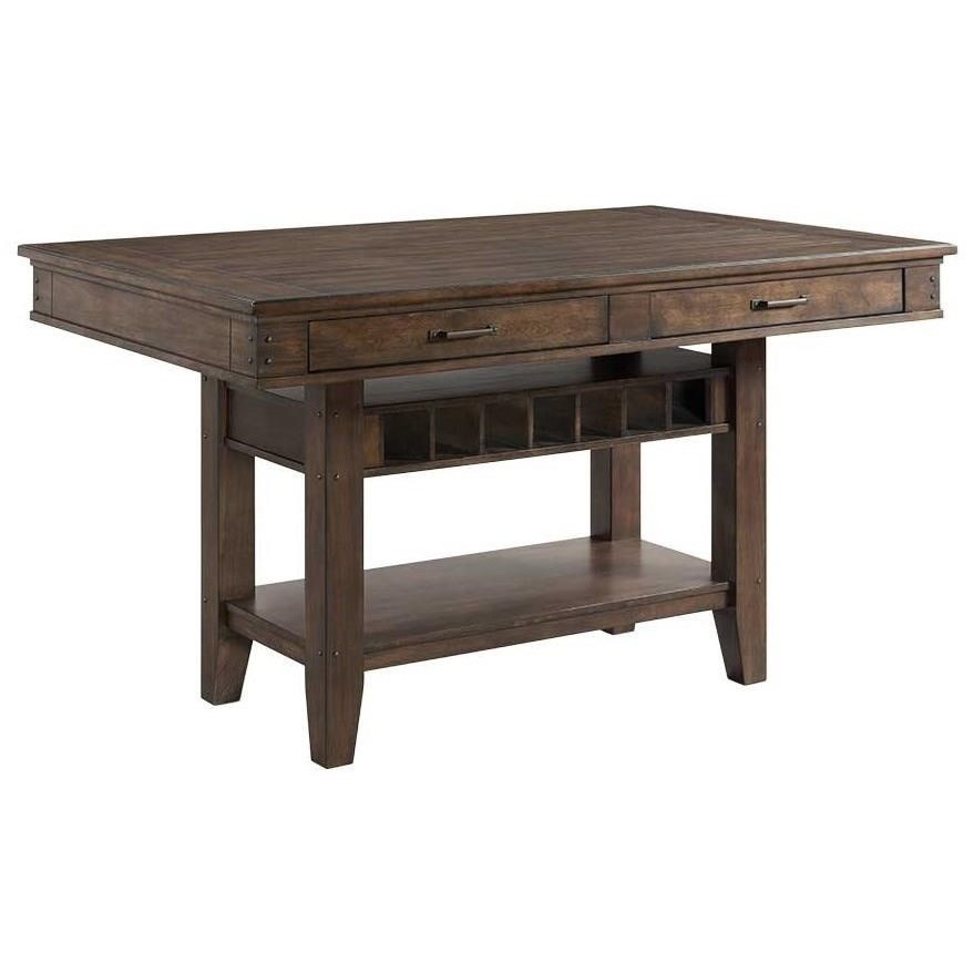 Whiskey River  Counter Height Island by VFM Signature at Virginia Furniture Market