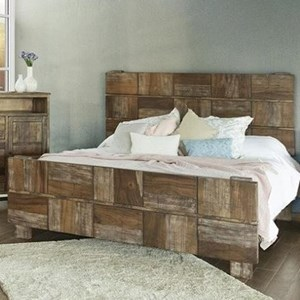 Rustic Solid Wood California King Low Profile Bed