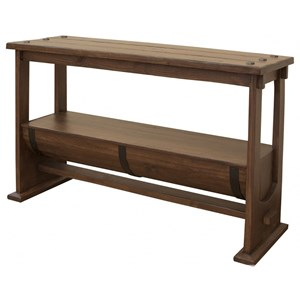 Industrial Barrel Console Table