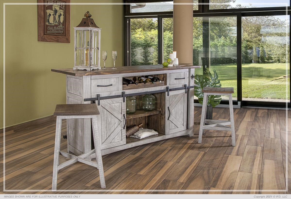Pueblo Bar and Stools by International Furniture Direct at Johnny Janosik