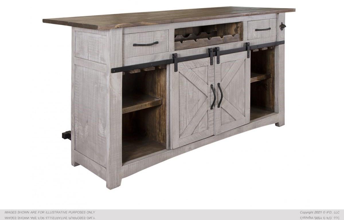 Pueblo Wooden Bar by International Furniture Direct at Johnny Janosik