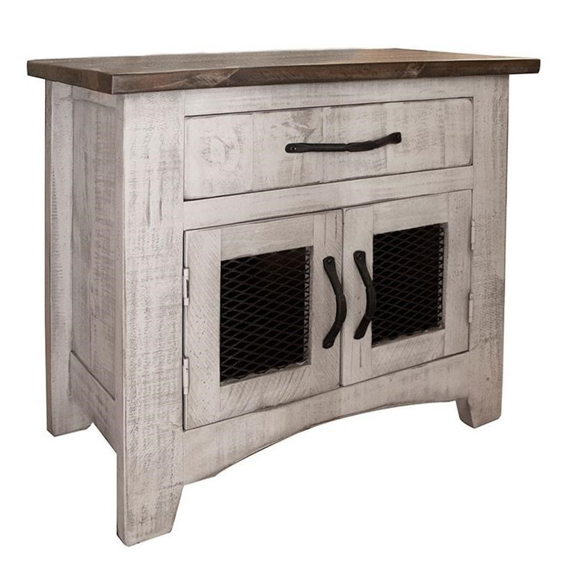 Pueblo Nightstand with 1 Drawer and 2 Doors by International Furniture Direct at Furniture Superstore - Rochester, MN