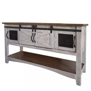 Sofa Table with 4 Doors