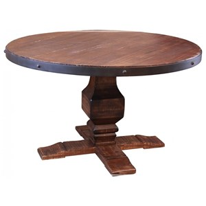 Round Table with Hand Carved Pedestal Base