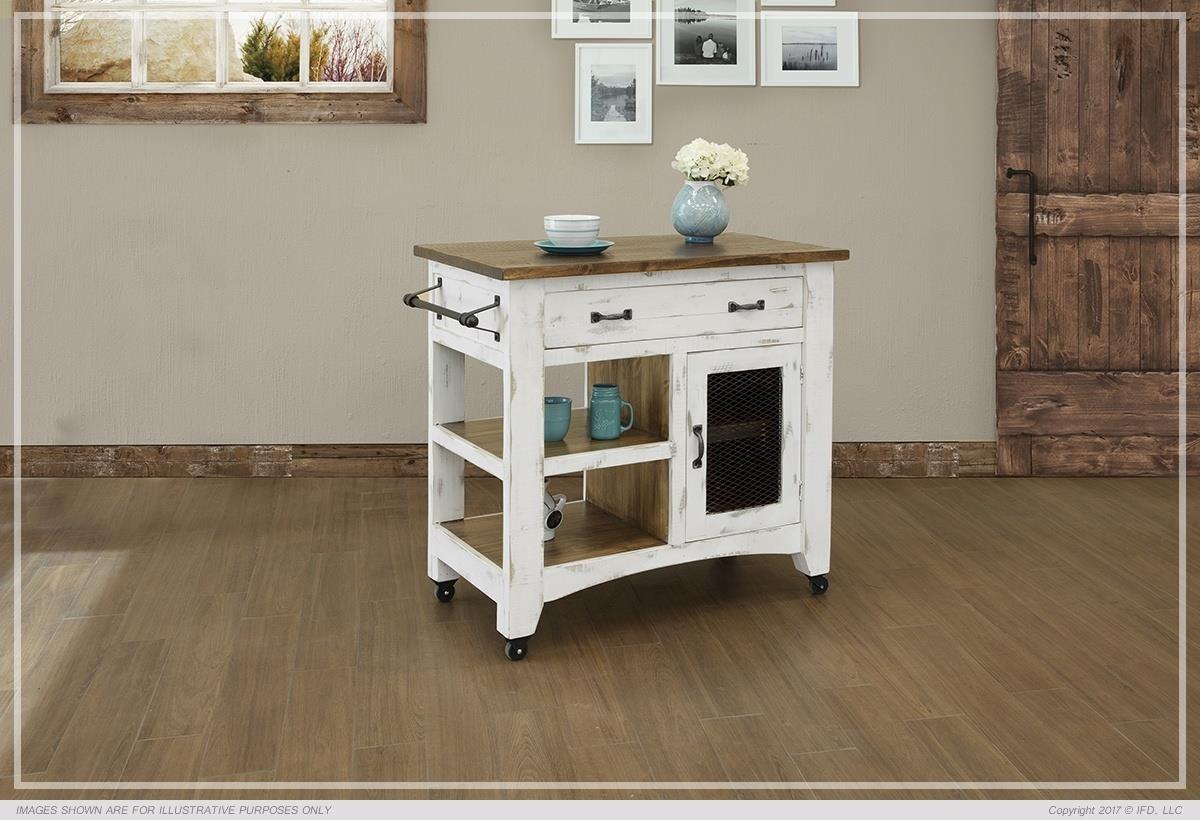 Pueblo Kitchen Island by International Furniture Direct at Westrich Furniture & Appliances