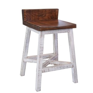 "24"" Counter Height Stool with Low Back"